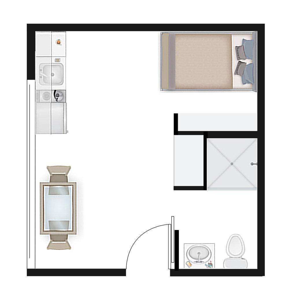 Studio 1.2 Floor Plan