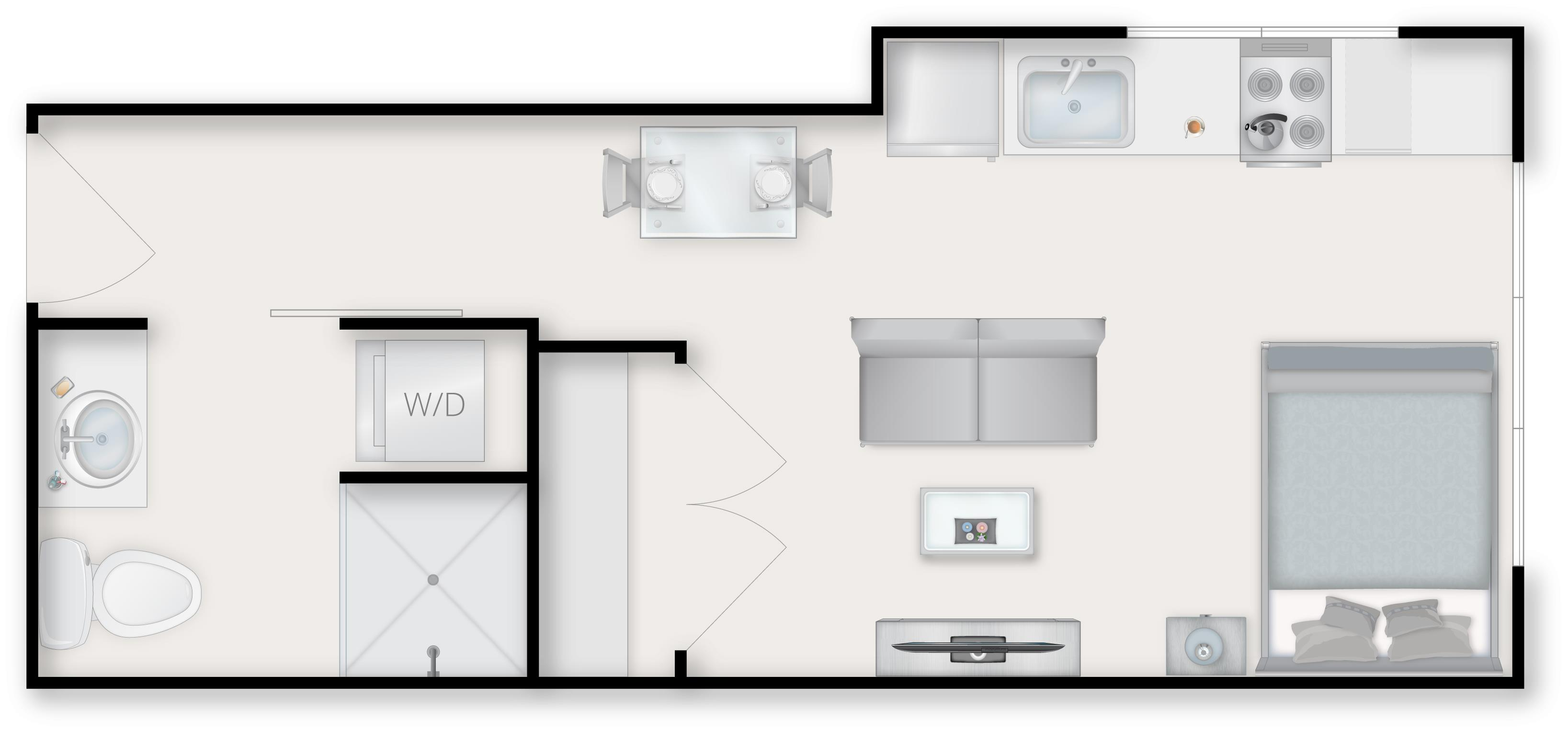 Studio C Floor Plan