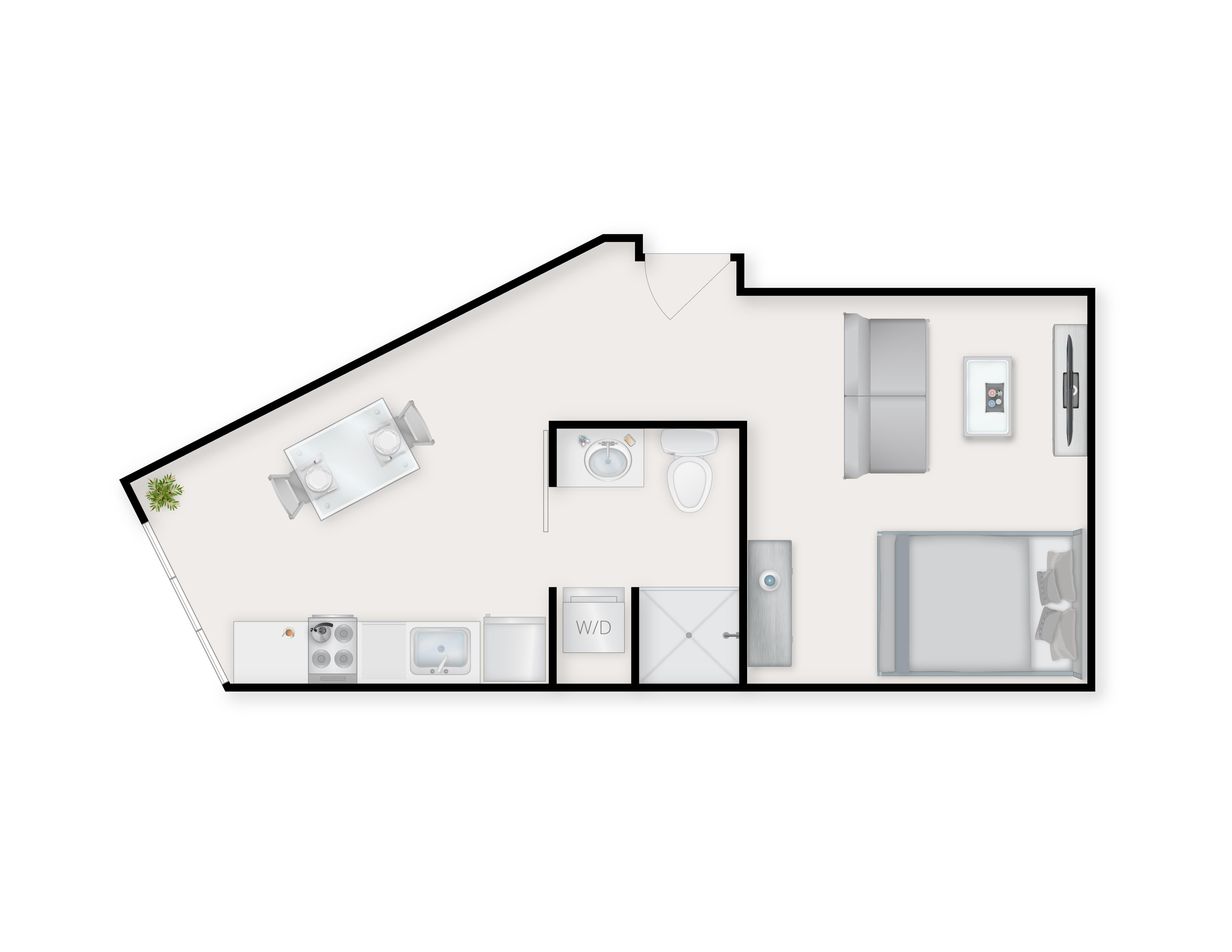 Studio Open Floor Plan