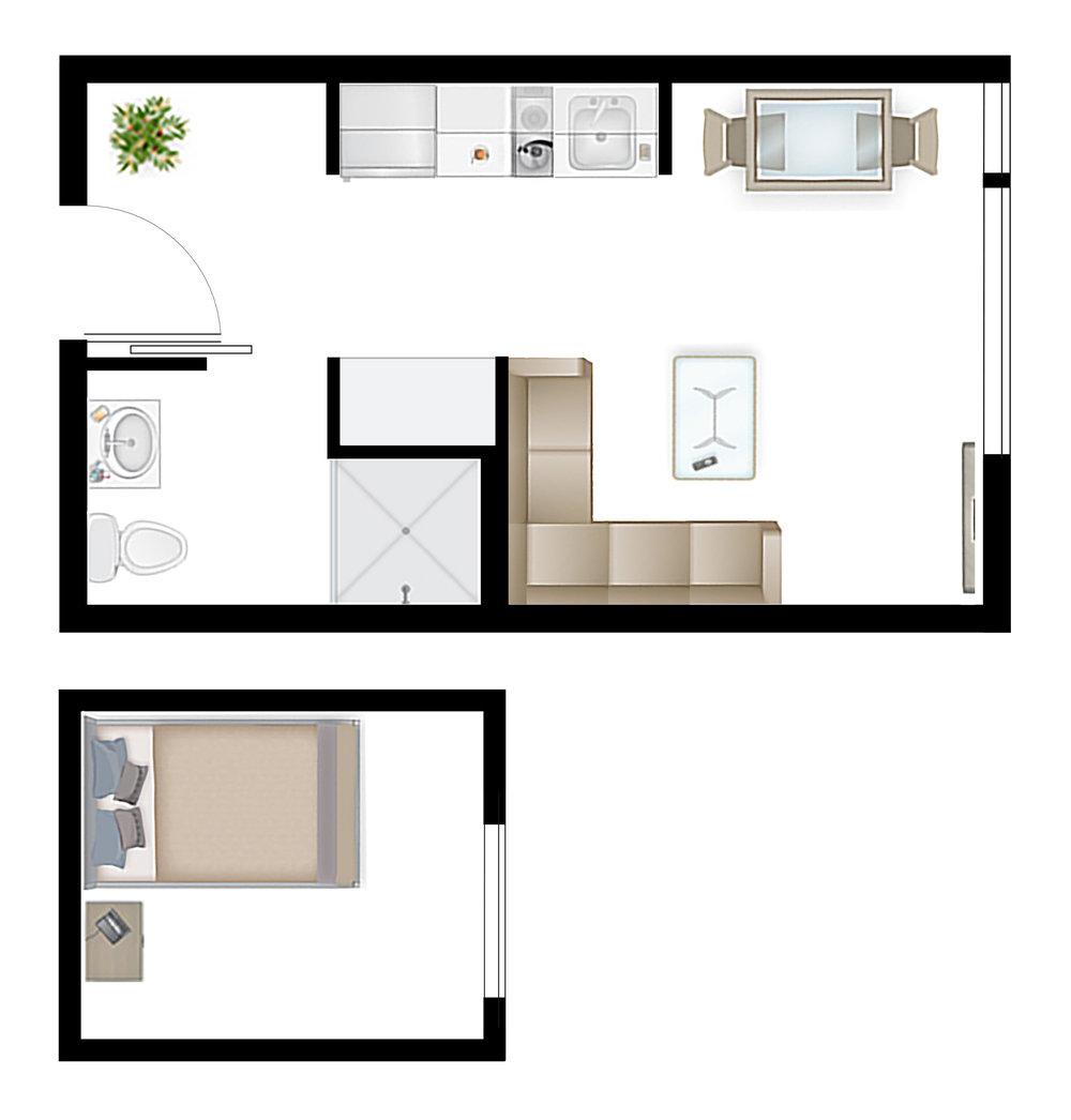 Studio 1.3 Floor Plan