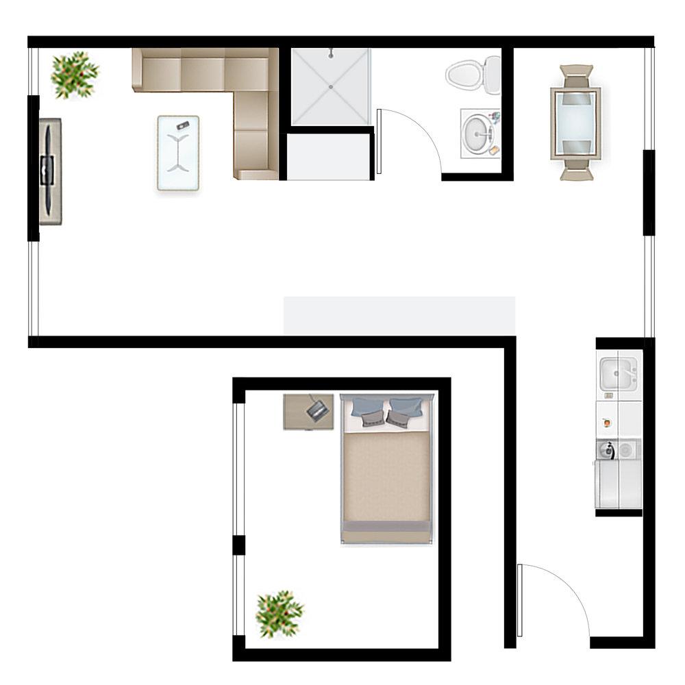 Studio 1.6 Floor Plan
