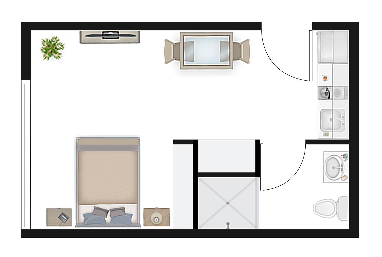 Studio 1.1 Floor Plan