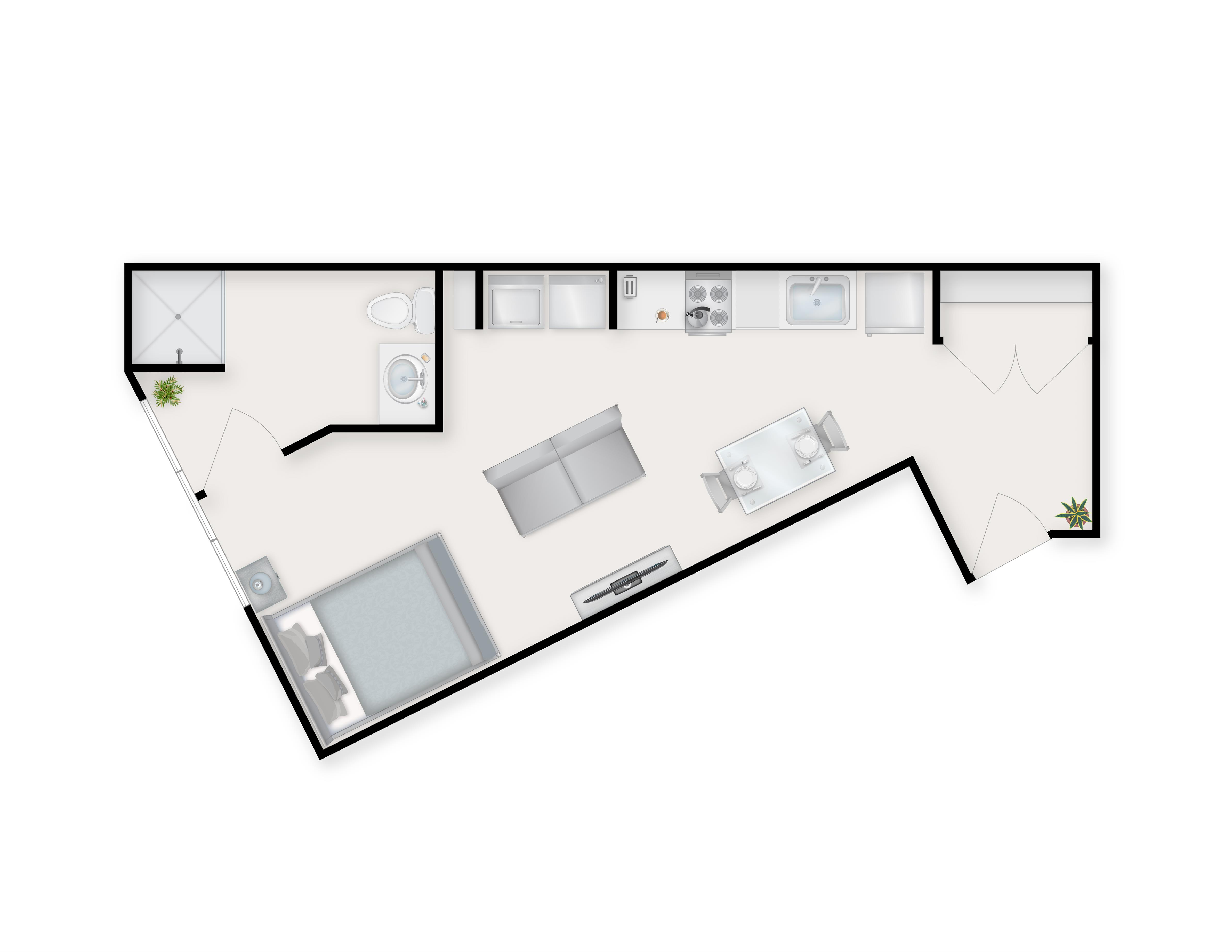 Studio D Floor Plan