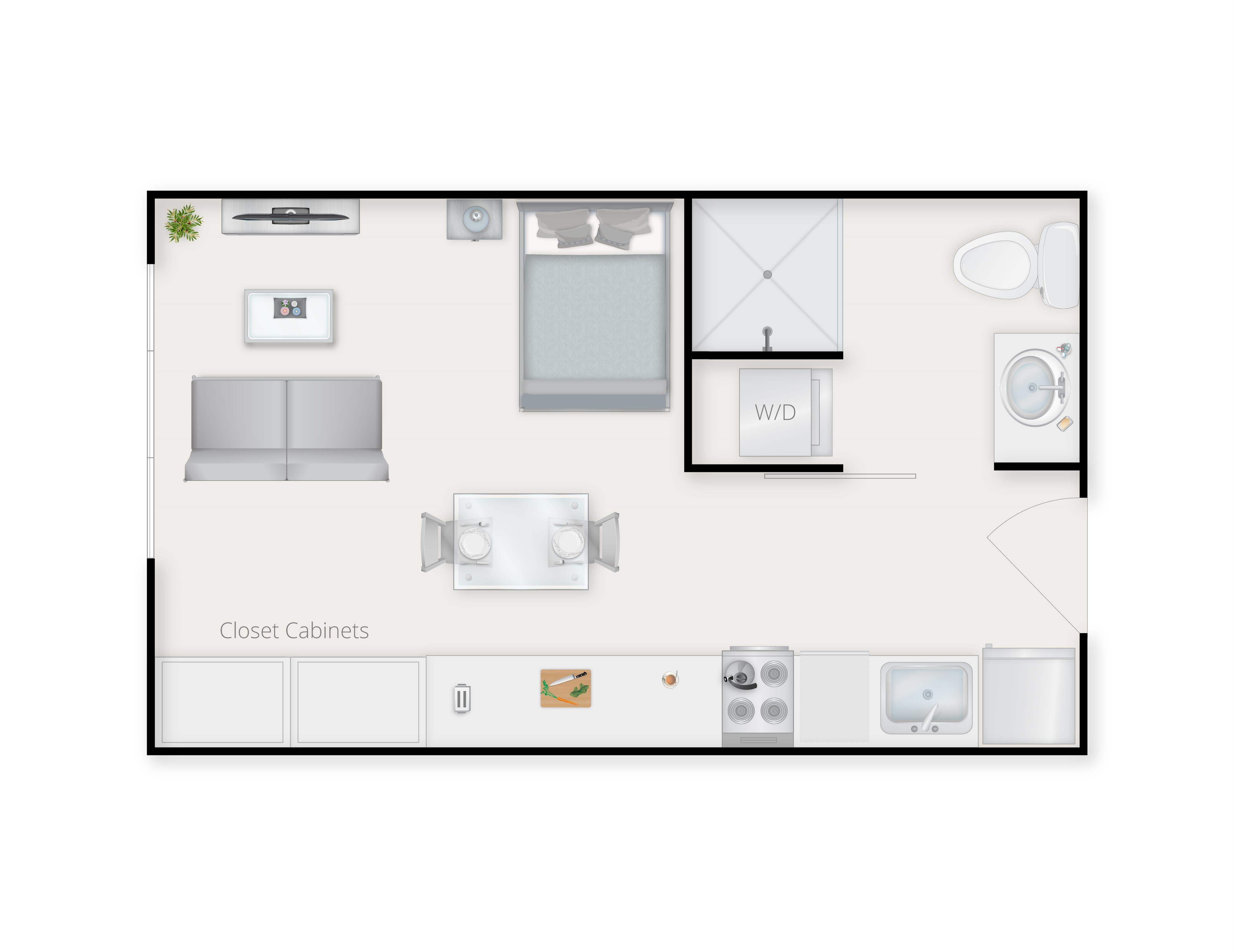Studio A Floor Plan