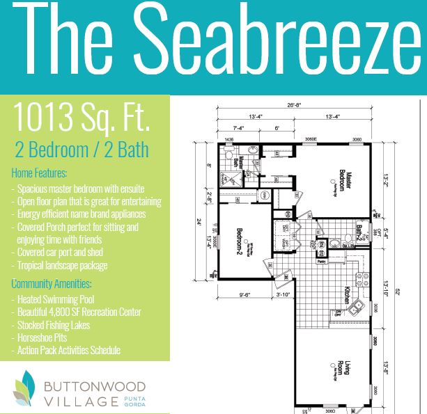 Very popular Seabreeze model (had been $91,900) is nearly complete and ready for a lucky owner. Full new home warranty, complete Whirlpool kitchen package, carport, shed and porch to relax on.  Call today for your personal tour and take advantage of the tremendous savings!