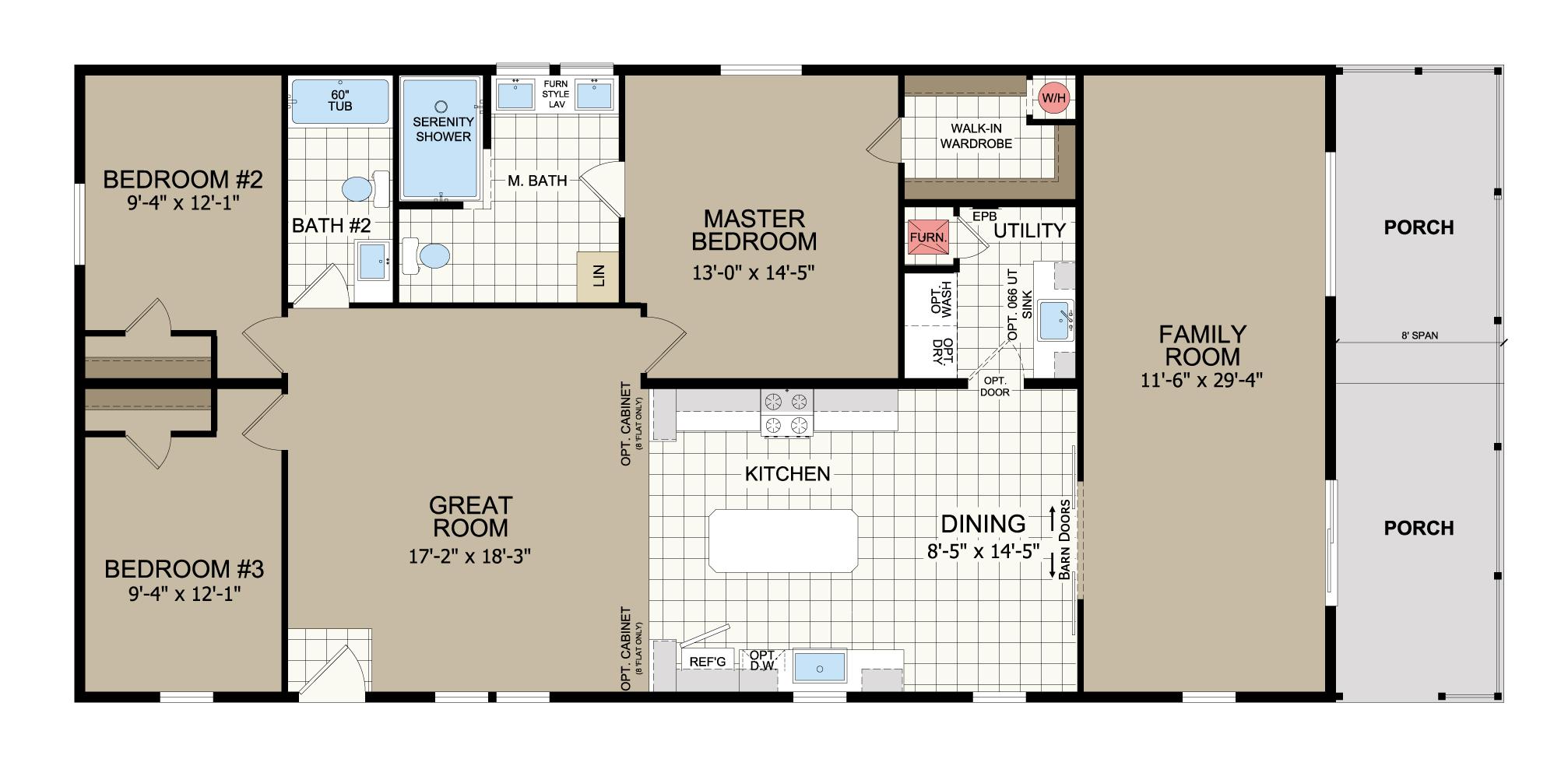 floorplan image for unit 341