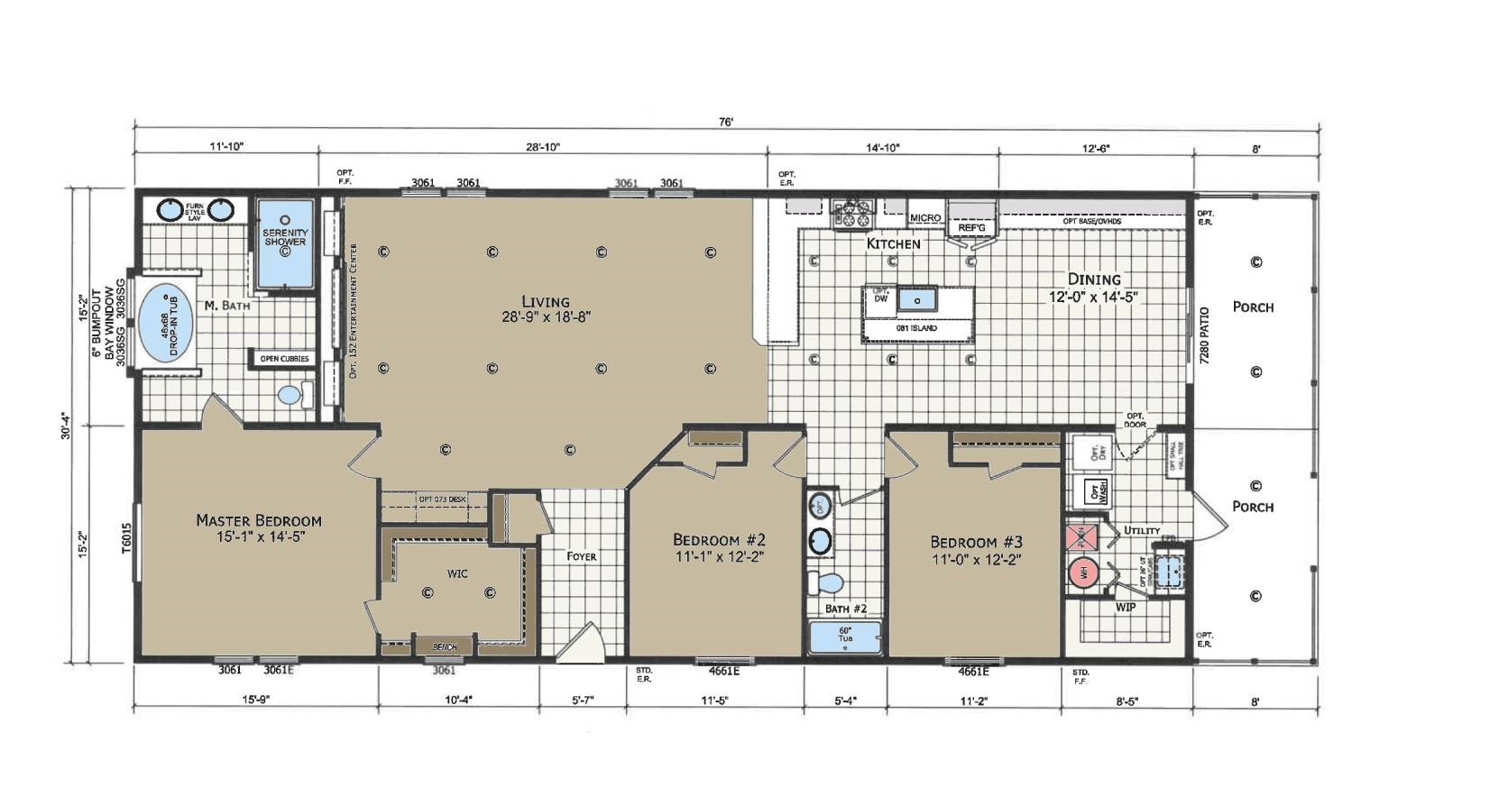 floorplan image for unit 358