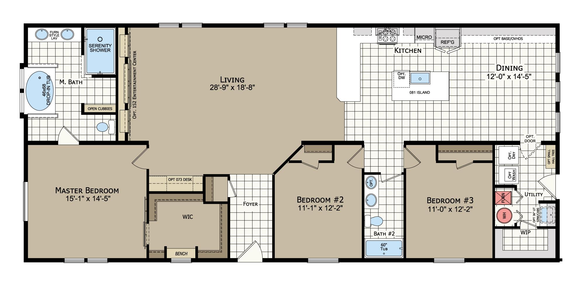 floorplan image for unit 354