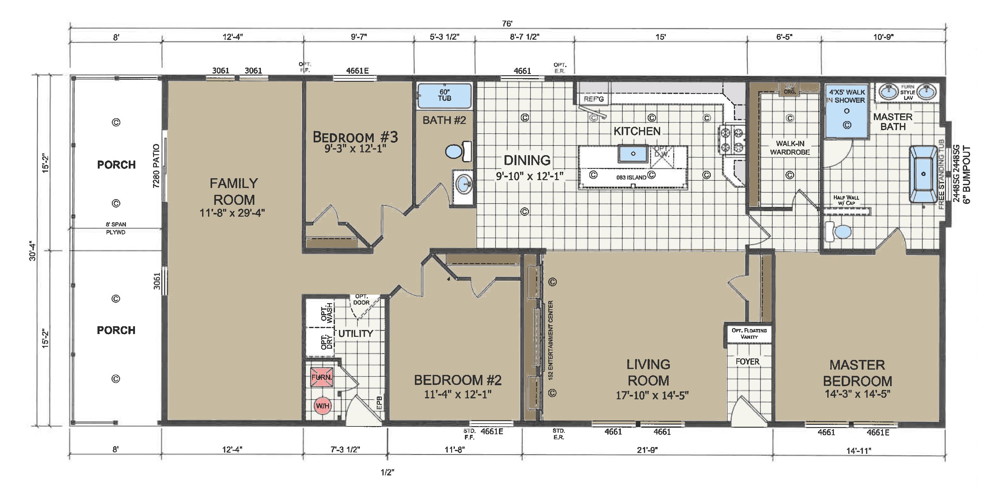 floorplan image for unit 346