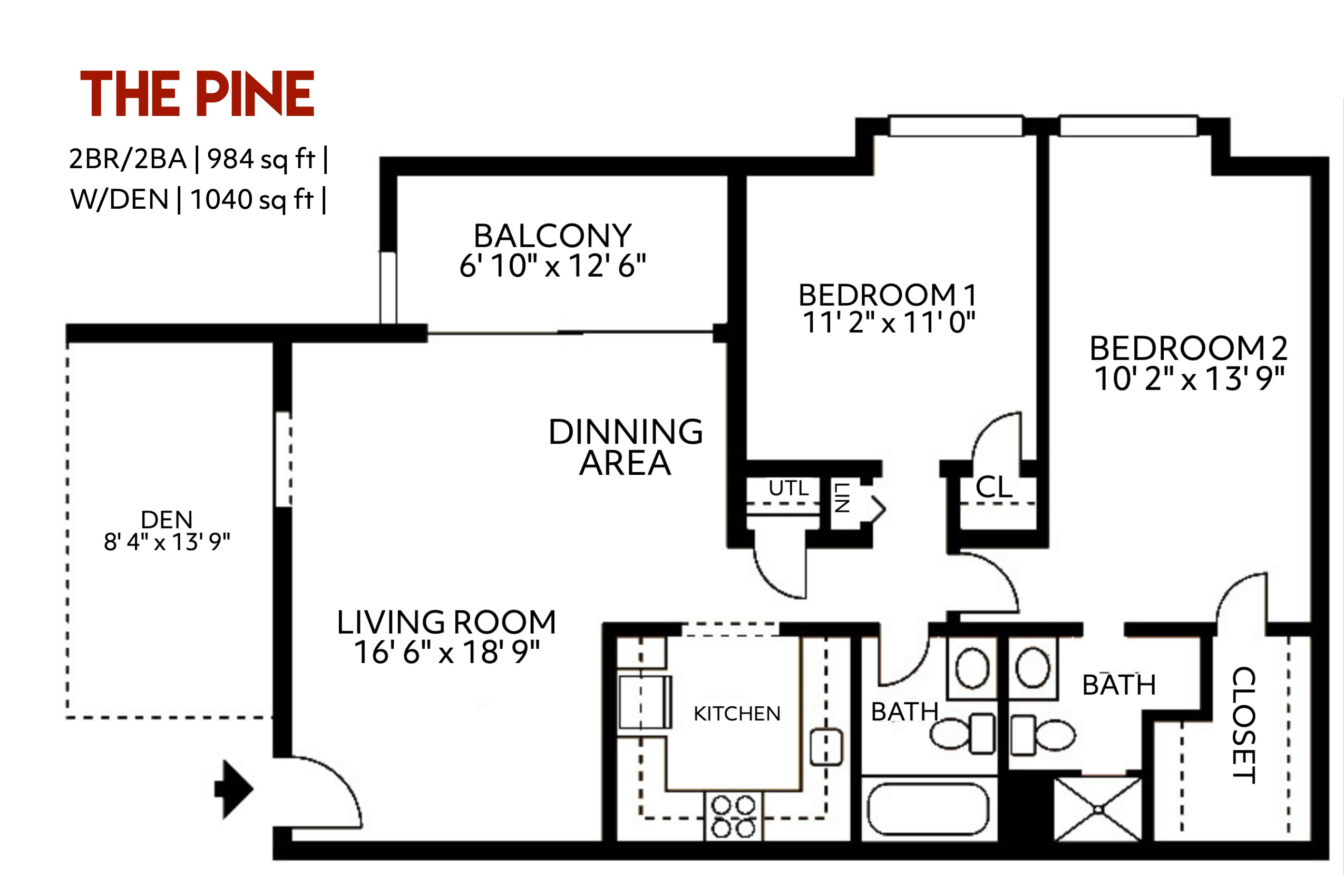 The Pine Floorplan