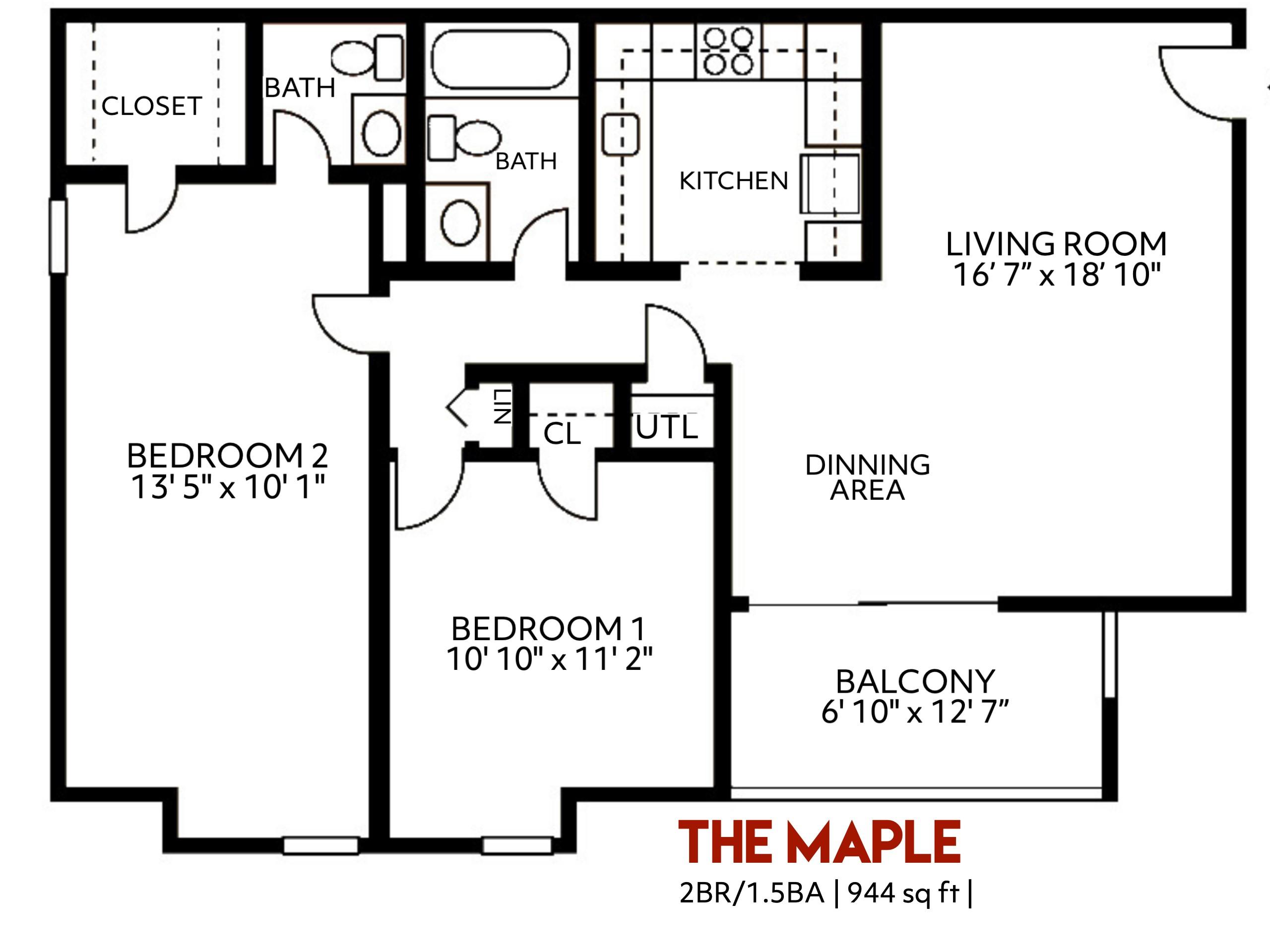 The Maple Floorplan